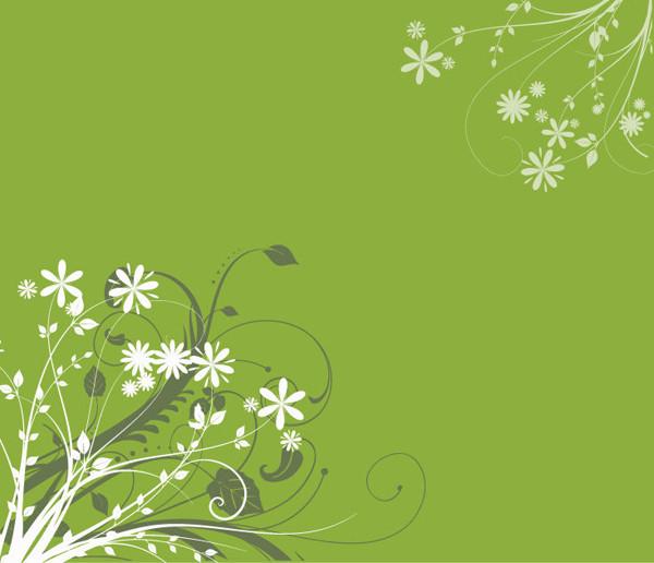 レトロな花のシルエット クリップアート Retro Floral Silhouette Clipart