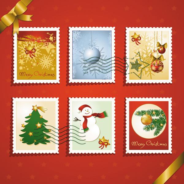 クリスマス飾りの切手見本 christmas elements stamp