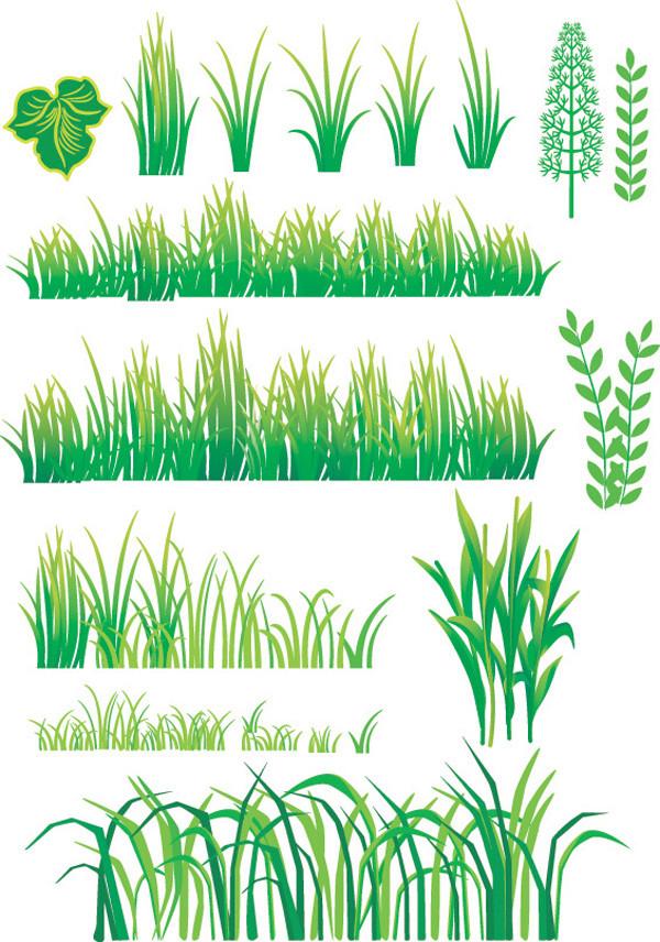 竹の背景と草のクリップアート bamboo grass plant vector4