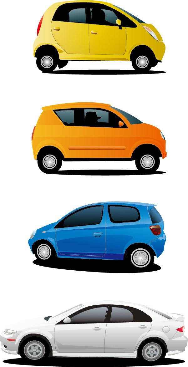 小型乗用車のクリップアート small car vector
