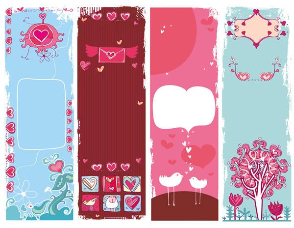 可愛いバレンタインデーの背景 background vector cute valentine day2