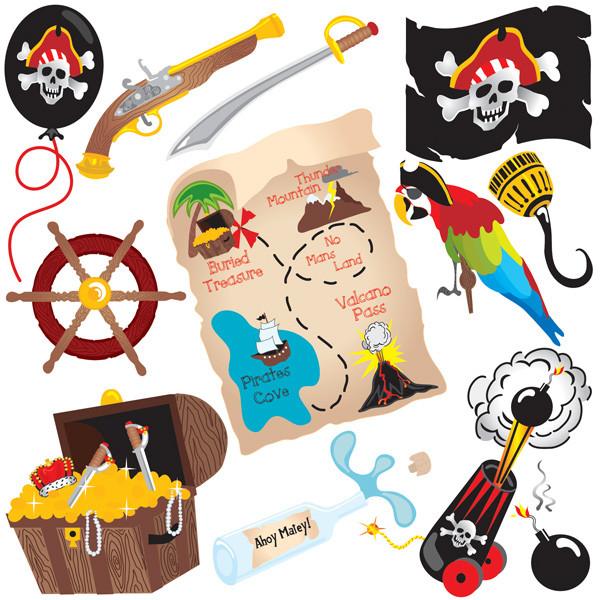 海賊の宝物クリップアート pirate treasure series vector4