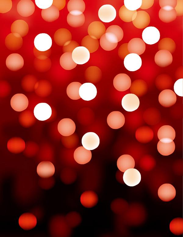 赤い背景にぼやけた光 Red Bokeh Background