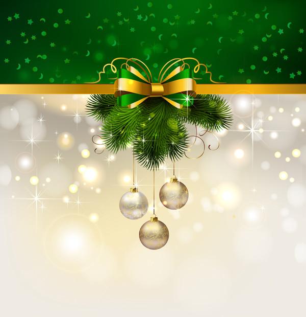 クリスマスのリボン飾りの背景 christmas decoration background