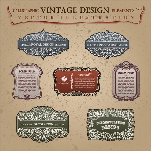 ヴィンテージ デザイン ステッカー classical borders lace stickers