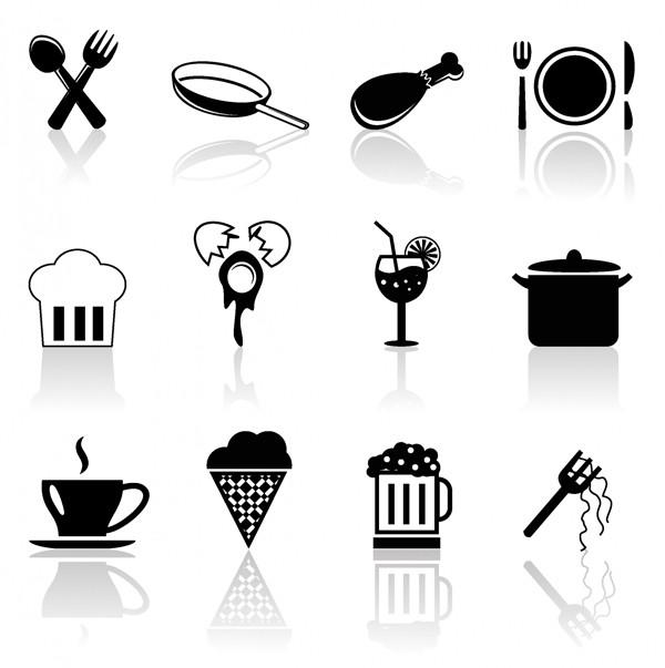 食に関する立体アイコン Foods icon set
