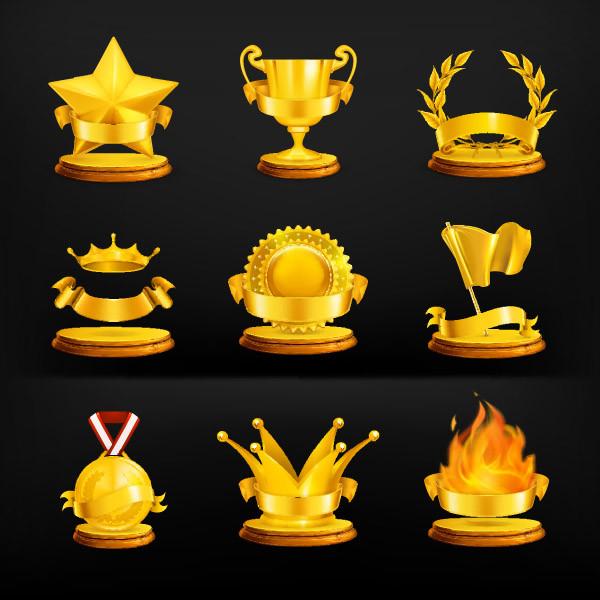 黄金のメダル アイコン gold medal icon material