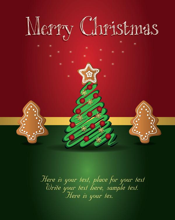 シンプルなクリスマス・ツリーの背景 beautiful christmas tag
