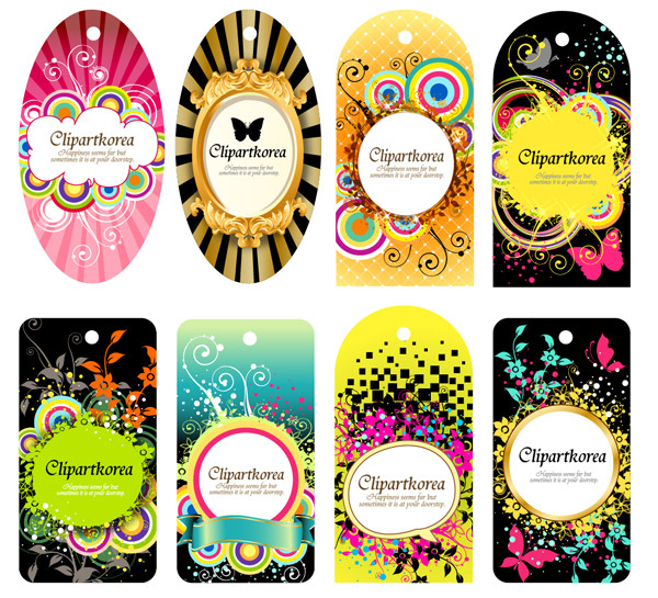 豪華なデザインのファッション タグ variety of fashion label tag