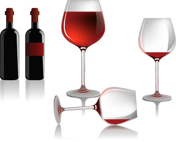 ワインボトルとグラス several wine bottles and glasses5