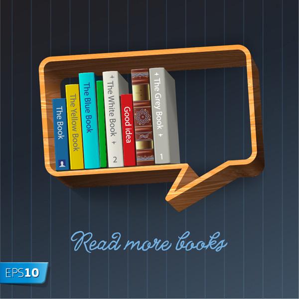 吹き出し型の木製本棚 wooden book stand shelves dialog boxes