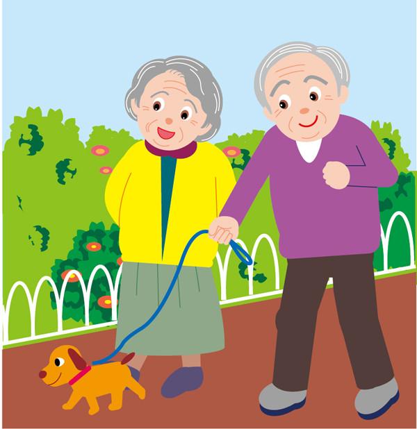 生活する高齢者のクリップアート 100 elderly people living
