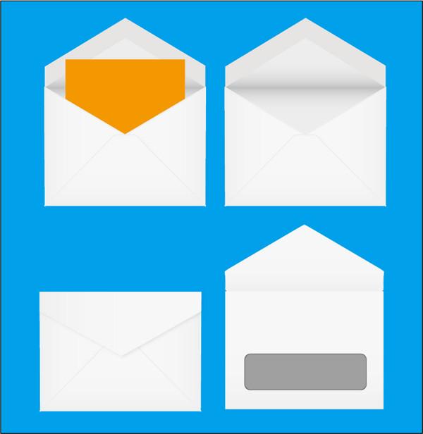 封筒のテンプレート Vector Envelope set