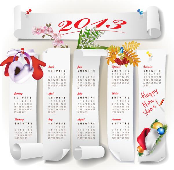 新年のカレンダー テンプレート 2013 New Year calendar grids3