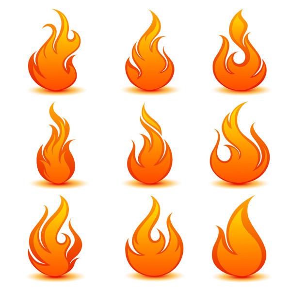 炎を描いたアイコン flame icon vector