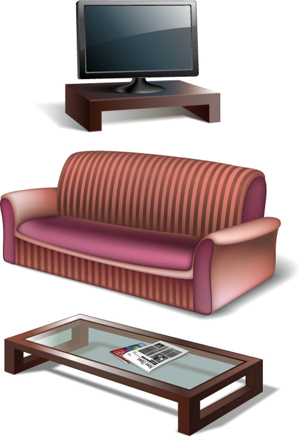 テレビとソファー TV cabinet sofa household items