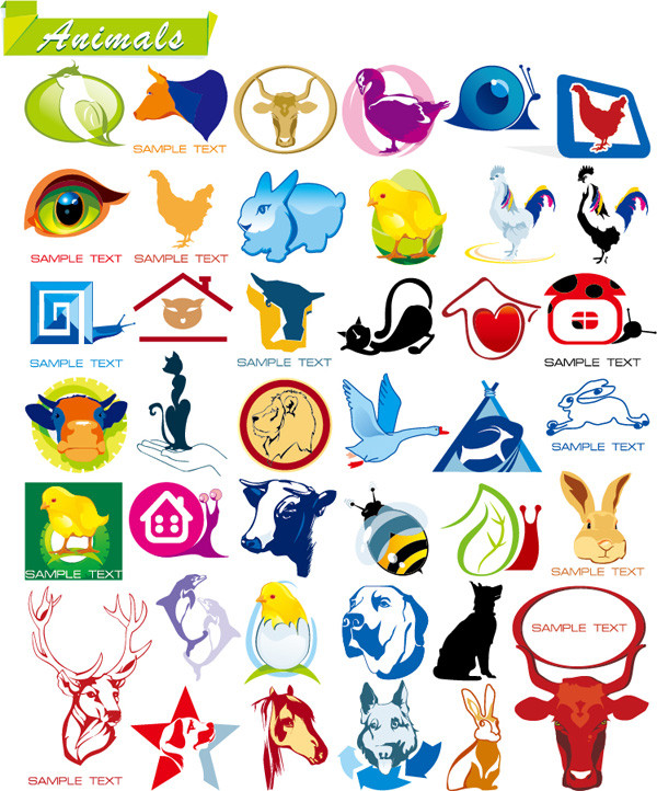 洗練された動物アイコン some on animal vector graphics