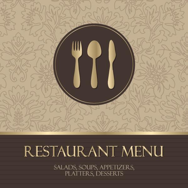 レストラン メニュー表紙見本 western menu background