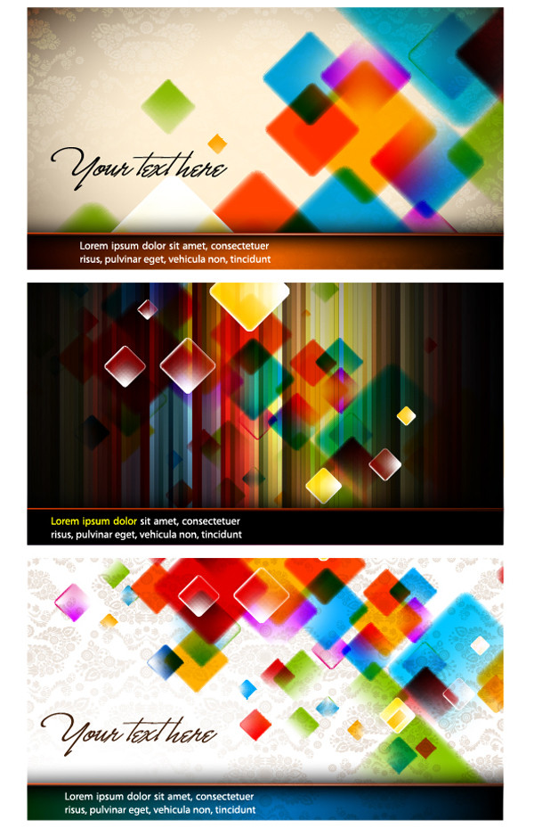 カラフルなボックスの背景 colorful vector crystal box background