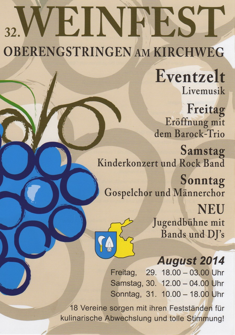 Flyer Weinfest 2014