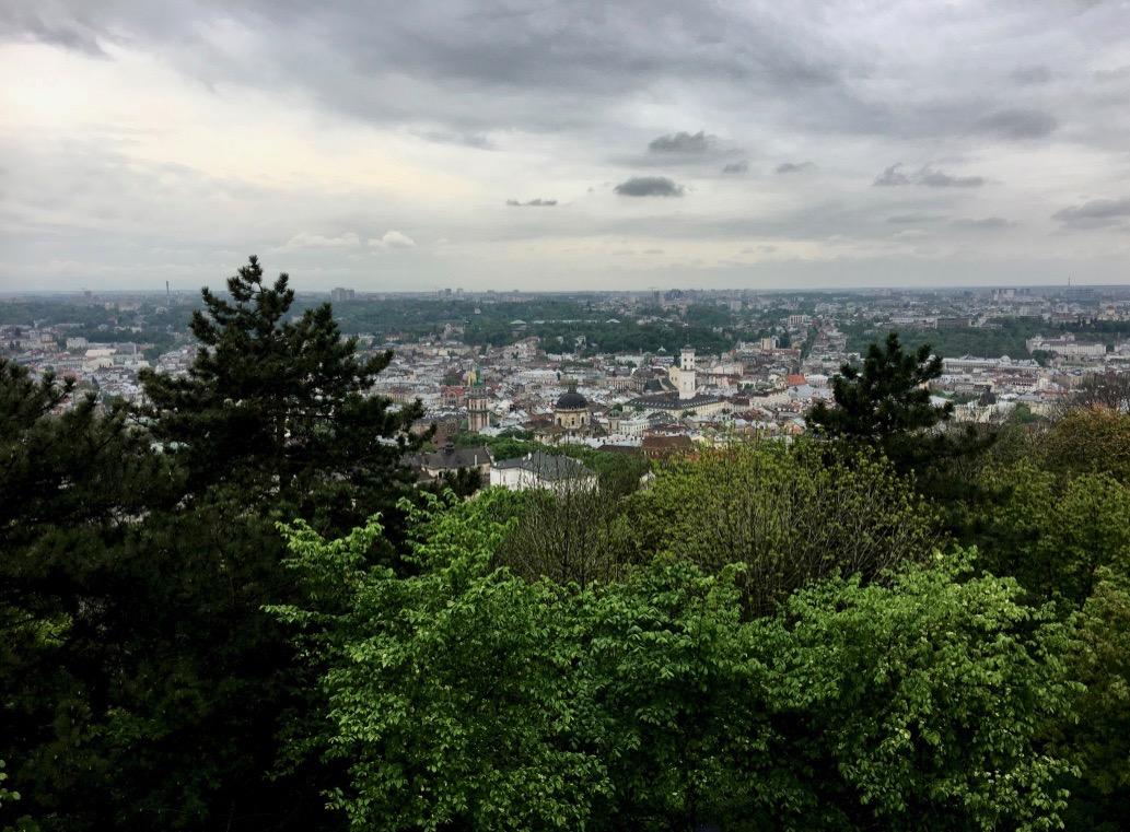 Blick vom Schlossberg auf Lemberg