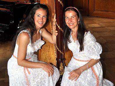 Duo Praxedis, unsere charmanten Solistinnen der Herbst-Serenade 2014