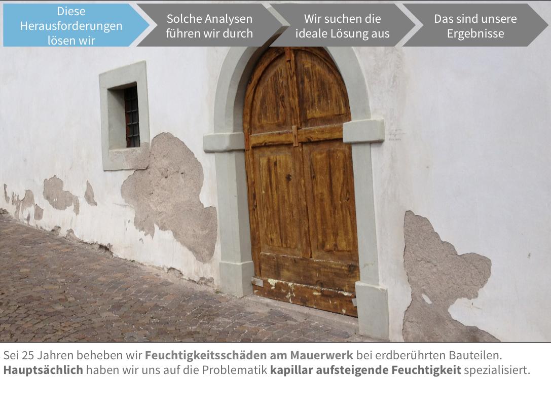 Problem aufsteigende Feuchtigkeit im Mauerwerk