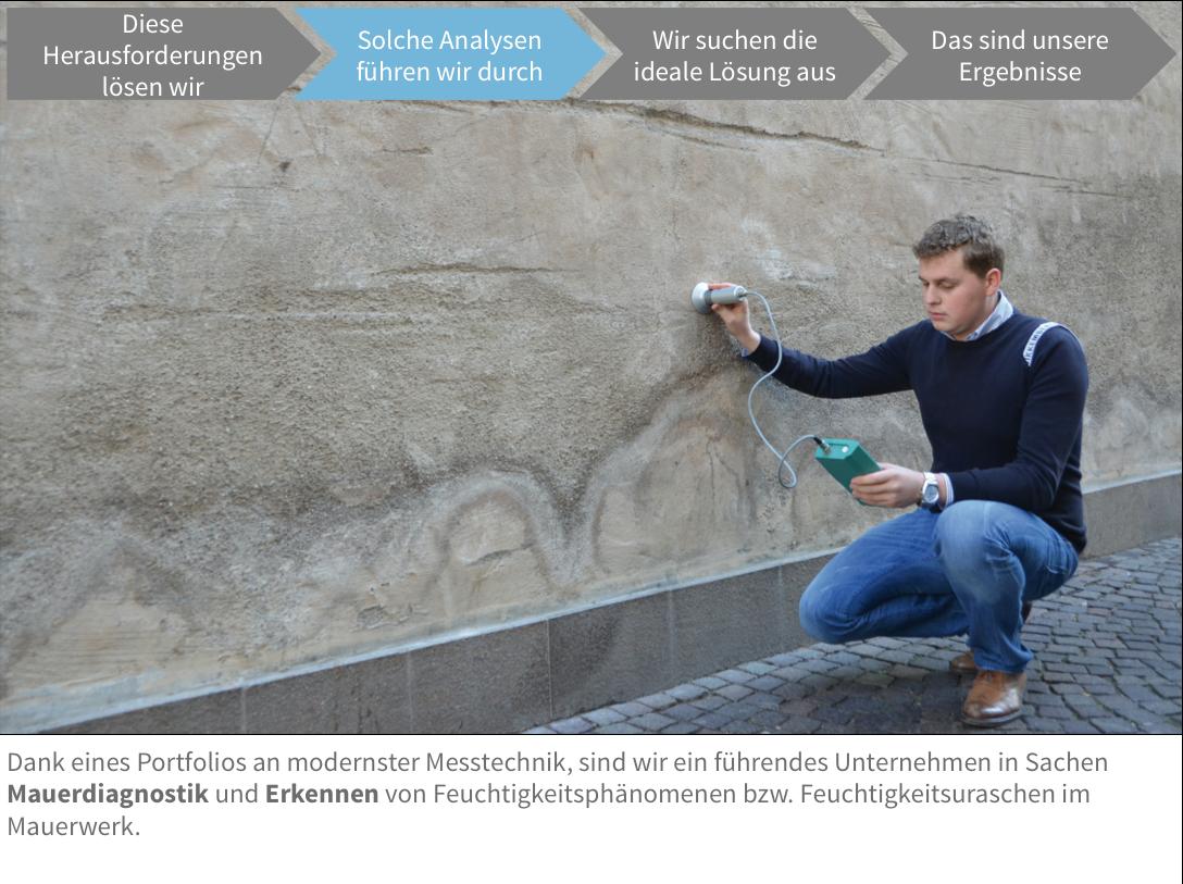 Analysen Feuchtigkeit Mauerwerk