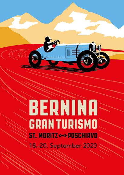 Offizielles Plakat der Bernina Gran Turismo 2020.