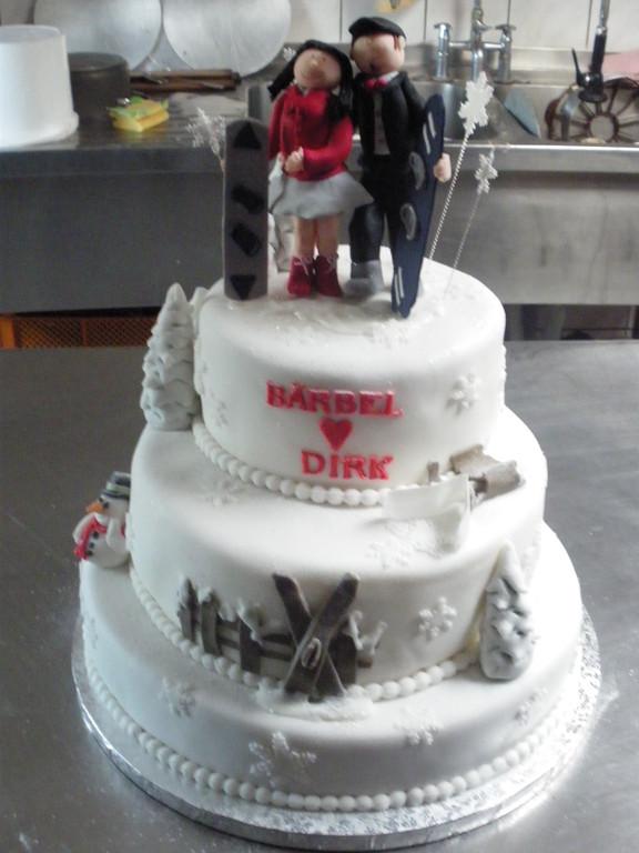 Hochzeitstorte für Snowboarder