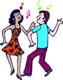 dessin d'un couple qui danse.