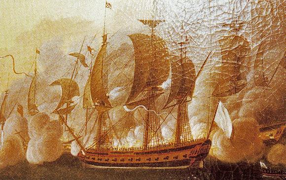 Document 1_  L'Hermione au combat de Louisbourg en 1781 par AL de Rossel de Cercy