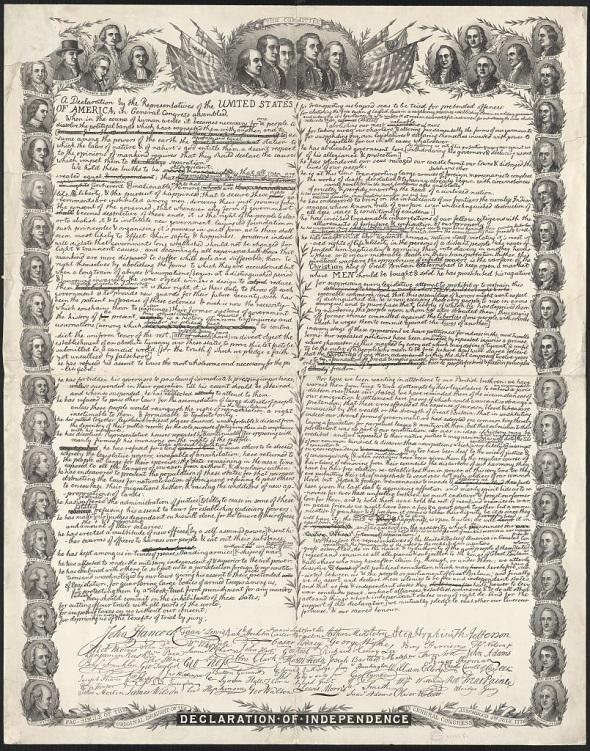 Document 4 _Déclaration d'Indépendance américaine, 1776