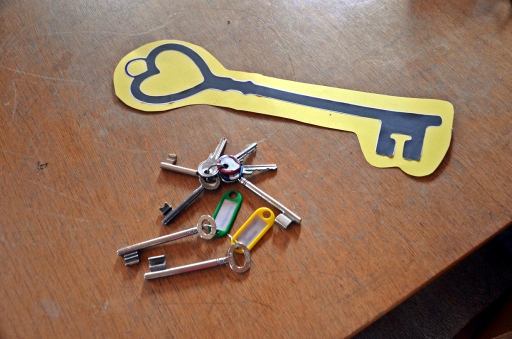 Schlüsselübergabe Altes Rathaus Breuningsweiler - eine ganze handvoll Schlüssel