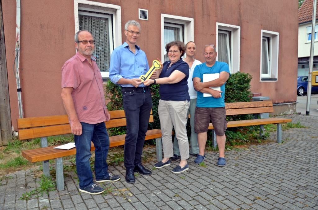 Schlüsselübergabe Altes Rathaus Breuningsweiler - es ist offiziell