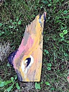 Intuitives Malen auf Holz mit der Künstlerin Evelin Aefelein