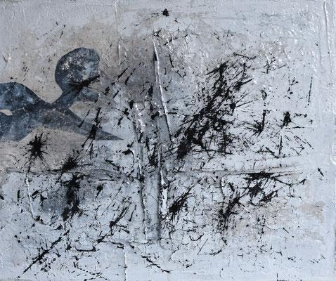 """""""Grenzerfahrung"""", 50 x 60, mixed media, Druck, K385"""