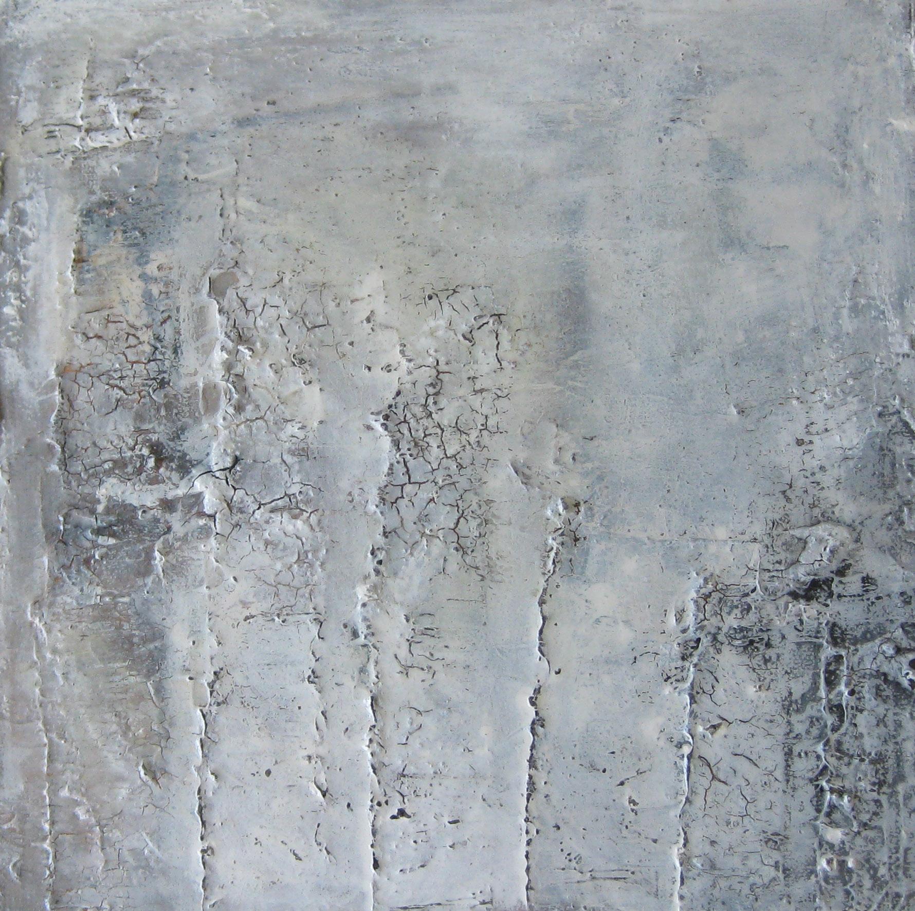 """""""Eiszeit"""", 40 x 40, mixed media, Harzguss"""
