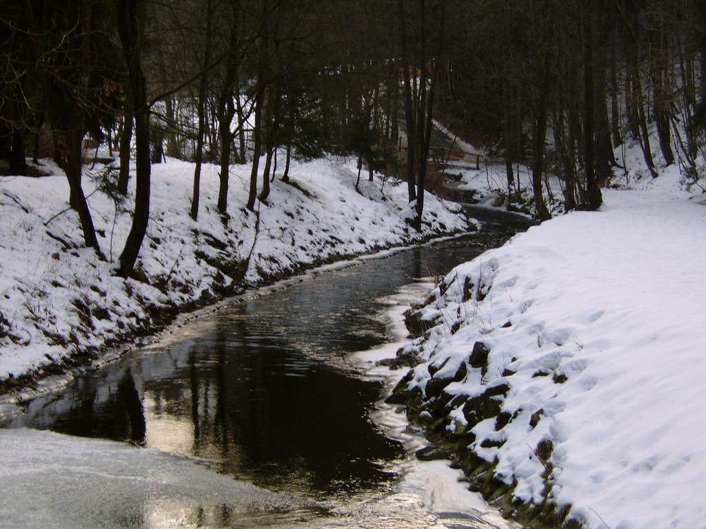Die Ölschnitz mit Blick Fluss-abwärts