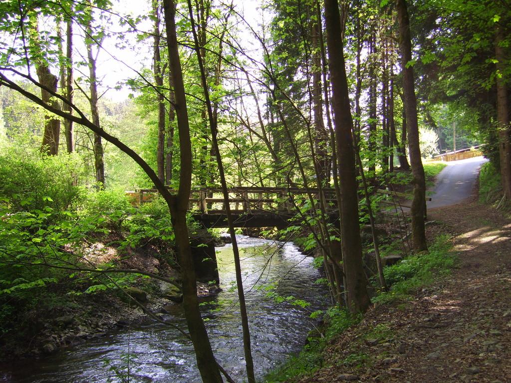 Die Ölschnitz mit Zufahrtsstrasse-Brücke
