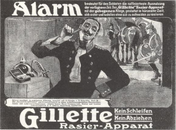 Gillette Werbung um 1910 , Gillette Deutschland GmbH.
