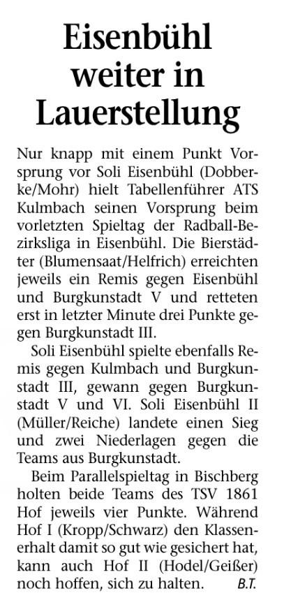 Frankenpost 06.05.2014