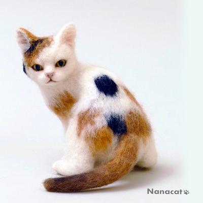 【振り返り三毛子猫】 ブログにこの猫のフランス旅行記があります。