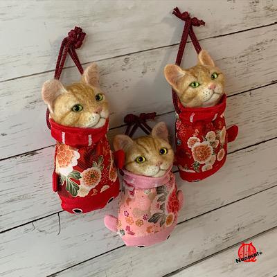 【金魚巾着猫】2017~ 販売イベントなどで販売してます。