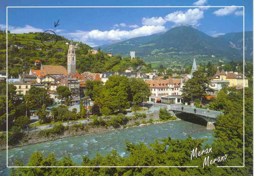 Meran - Blick auf das Dorf Tirol