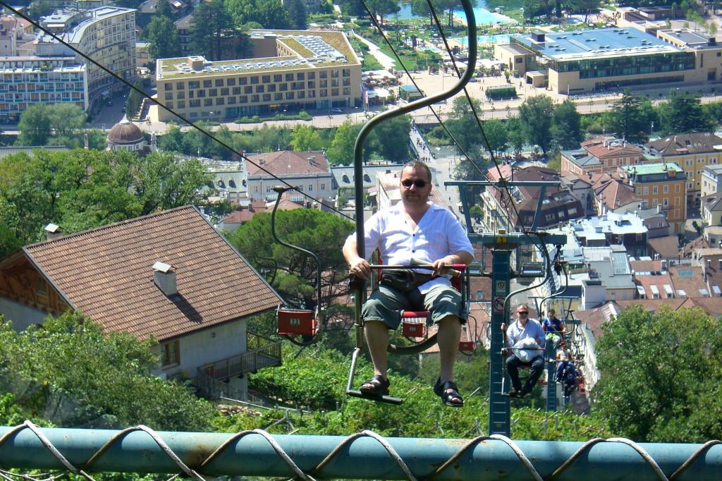 Meran - Sessellift zum Dorf Tirol