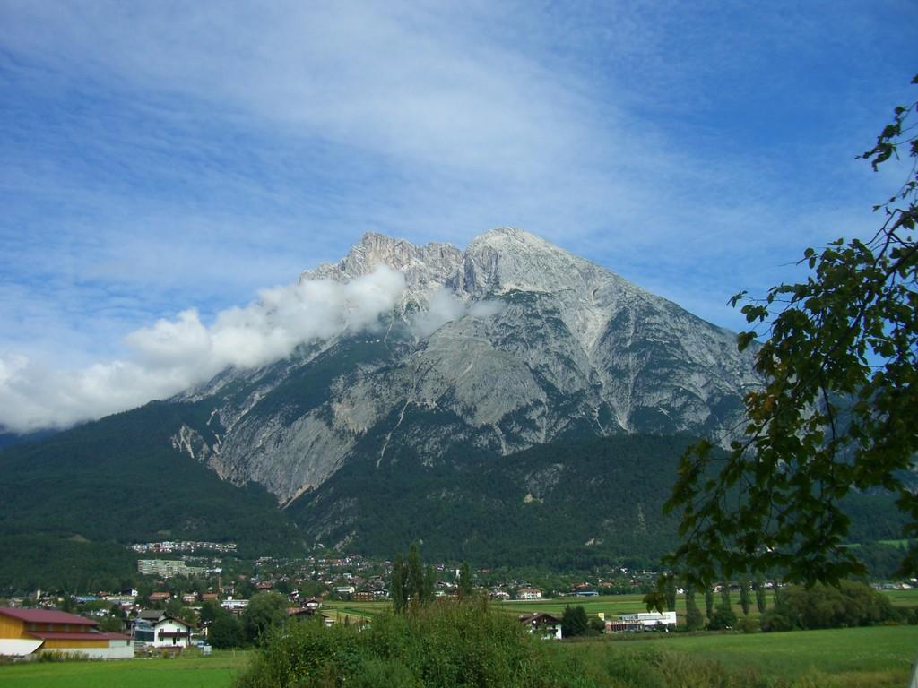 Rückreise - nochmal ein Blick von der Autobahn auf die Zugspitze