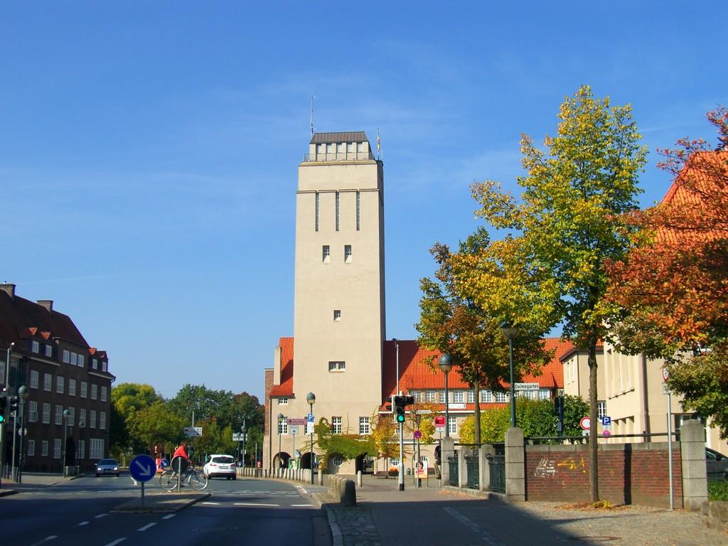Stadtzentrum - Wasserturm 42 m hoch