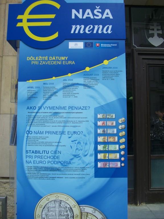 Bratislava - in wenigen Monaten kommt der Euro