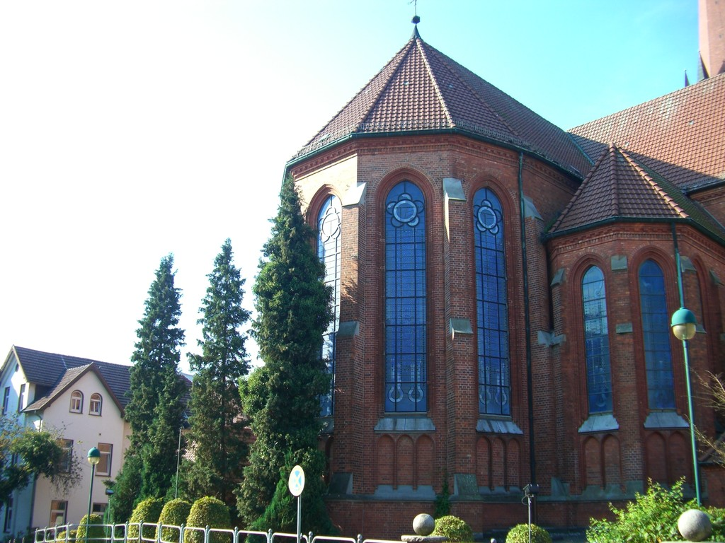 Katholische Stadtkirche St. Marien / Rückseite